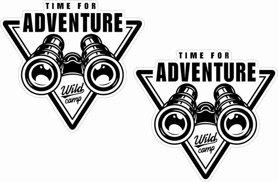 Picture of Time for Adventure Decals / Stickers