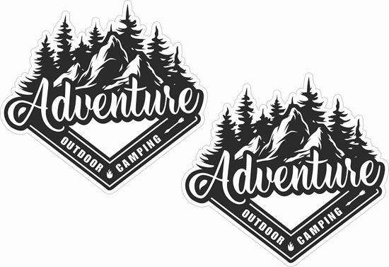 Picture of Adventure outdoor camping Decals / Stickers