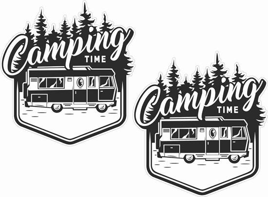 Picture of Camping Time Decals / Stickers