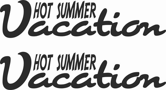 Picture of Hot Summer Vacation Decals  / Stickers