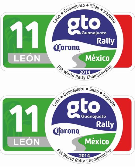 Picture of Mexico Rally Decals / Stickers