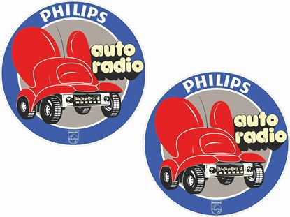 Picture of Philips auto radio Glass Decals / Stickers