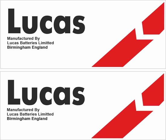 Picture of Lucas Car Batteries Ltd Decals / Stickers