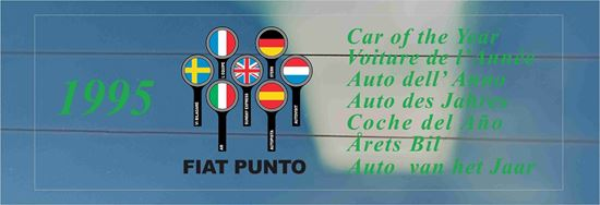 Picture of Fiat Punto Car of the year 1995  rear glass Decal / Sticker