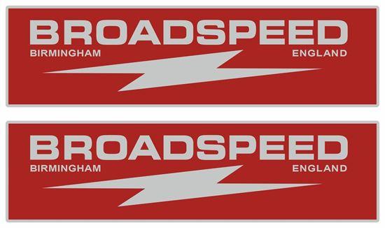 Picture of Broadspeed Birmingham England Decals / Stickers