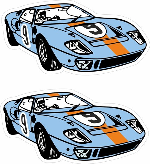 Picture of Ford GT40 Gulf Racing Decals / Stickers