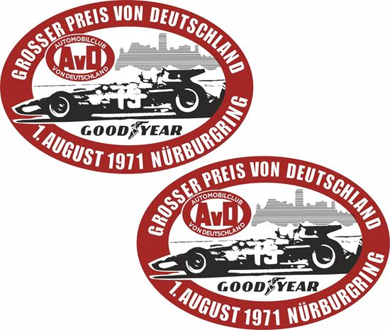 Picture of 1971 German Grand Prix Nürburgring Decals / Stickers