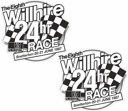 Picture of 1987 The Eight Willhire 24hr Race  Decals / Stickers