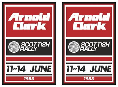 Picture of 1983 Arnold Clarke Scottish Rally Decals / Stickers