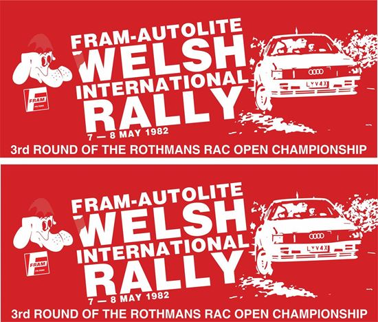Picture of 1982 Fram Autolite Welsh International Rally Decals / Stickers
