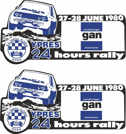 Picture of 1980 Fiat Ypress 24 Hours Rally Belgium Decals / Stickers