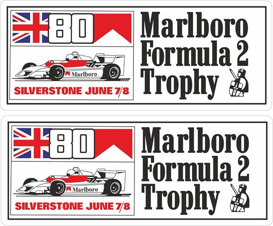 Picture of 1980 Marlboro Formula 2 Trophy Race Silverstone  Decals / Stickers