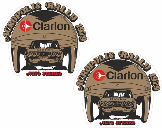 Picture of 1979 Acropolis Rally Greece Clarion Auto Stereo Decals / Stickers