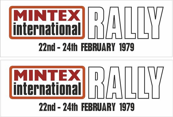 Picture of 1979 Mintex International Rally Yorkshire Decals / Stickers
