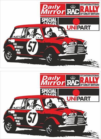 Picture of 1983 Daily Mirror International RAC Rally Decals / Stickers