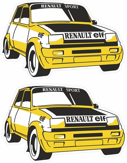 Picture of Renault 5 Turbo Rally Motorsport Decals / Stickers