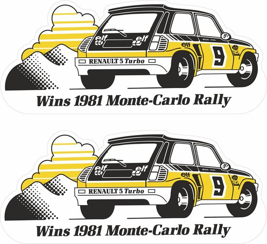 Picture of Renault 5 Turbo Wins 1981 Monte Carlo Rally Decals / Stickers