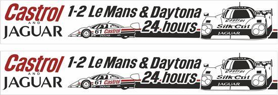 Picture of Jaguar Silk Cut Castrol Le Mans & Daytona 24 hours Race Decals / Stickers Decals / Stickers