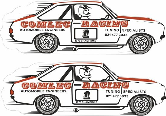 Picture of Ford Escort Mk2 Comlec Racing 1976 Champion Decals / Stickers