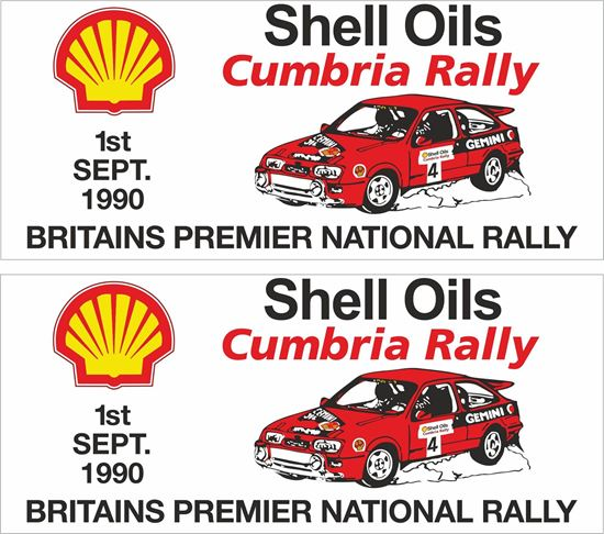 Picture of 1990 Shell Oils Cumbria Rally Decals / Stickers