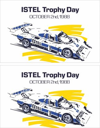 Picture of 1988 Istel Trophy Say Silverstone Sports Car Racing Decals / Stickers