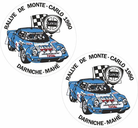Picture of 1980 Rallye Monte Carlo Lancia Stratos Decals / Stickers