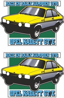 Picture of 1976 Opel Kadette GTE Race & Rally Champion Decals / Stickers
