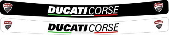 Picture of Ducati Corse Helmet Visor Decals / Stickers