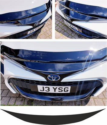 Picture of Toyota Corolla E210 MK12 Hatchback top Bumper Vinyl overlay Decal