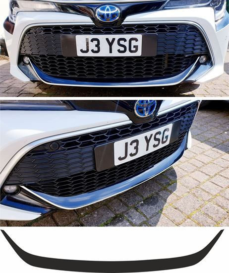 Picture of Toyota Corolla E210 MK12 Hatchback lower Bumper lip Vinyl overlay Decal