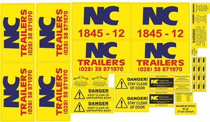 Picture of NC 1845-12 Trailer replacement Decals / Stickers
