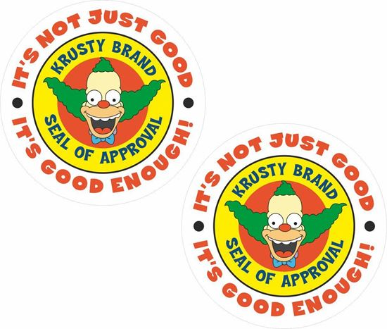Picture of Krusty Brand (Simpsons) Decals / Stickers