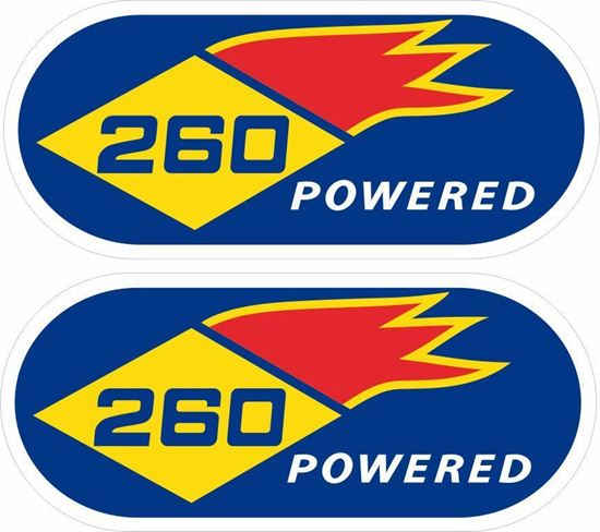 Picture of Sunoco 260 powered Decals / Stickers