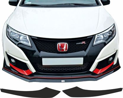 Picture of Honda Civic FK2 front lower Bumper overlay Vinyl / Stickers