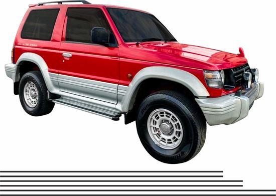 Picture of Mitsubishi Pajero / Shogun replacement side Pin Stripes