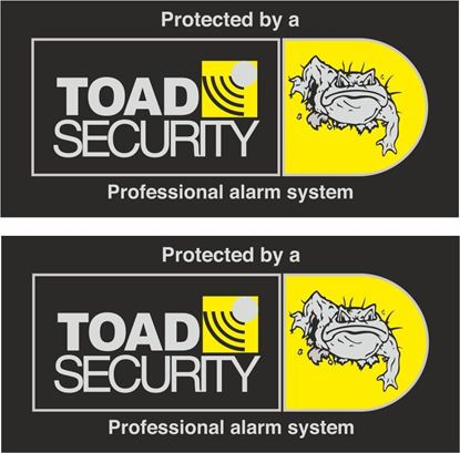Picture of Toad Security Glass  Decals / Stickers
