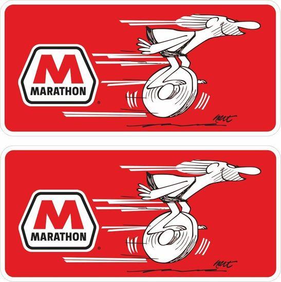 Picture of Marathon Gas Decals / Stickers