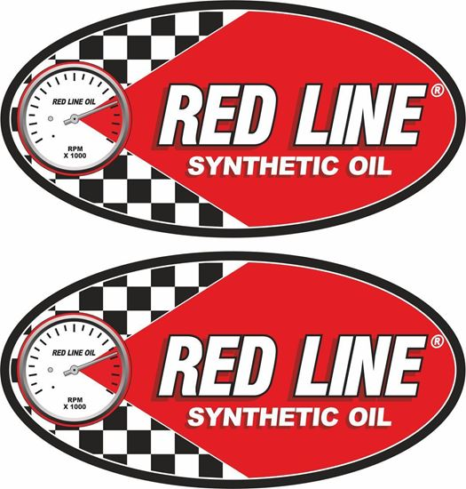 Picture of Red Line Synthetic Oil Decals / Stickers