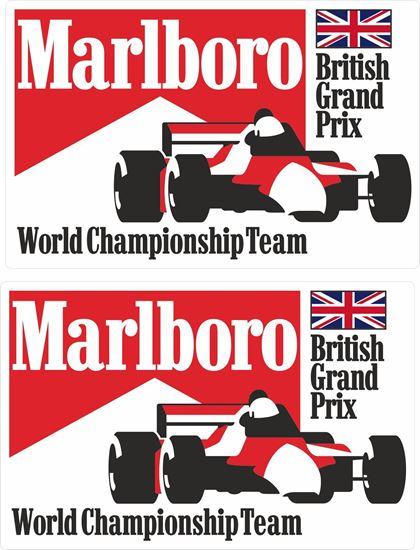 Picture of Marlboro World Championship Team British Grand Prix Decals / Stickers