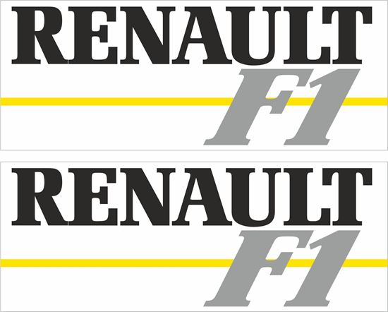 Picture of Renault F1 Decals / Stickers