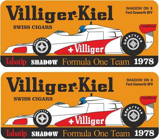 Picture of Villiger Tabatip Shadow D19 F1 Team Decals / Stickers