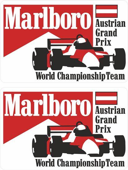 Picture of Marlboro World Championship Team Austrian Grand Prix Decals / Stickers
