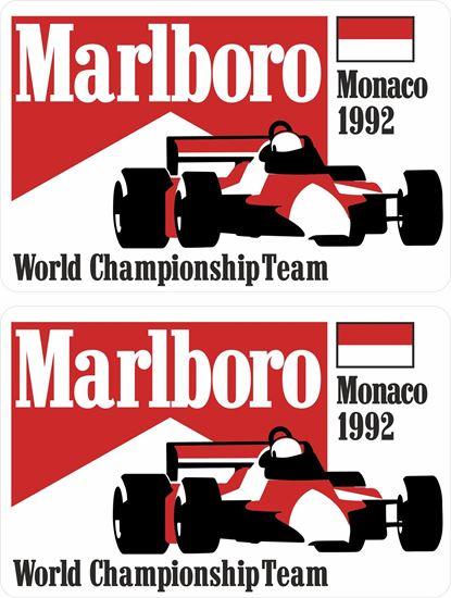 Picture of Marlboro World Championship Team Monaco 1992 Grand Prix Decals / Stickers