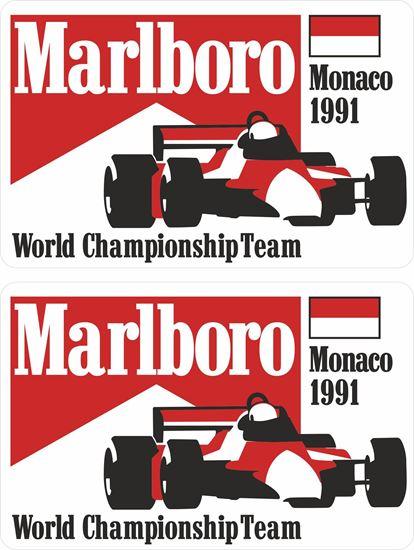 Picture of Marlboro World Championship Team Monaco 1991 Grand Prix Decals / Stickers