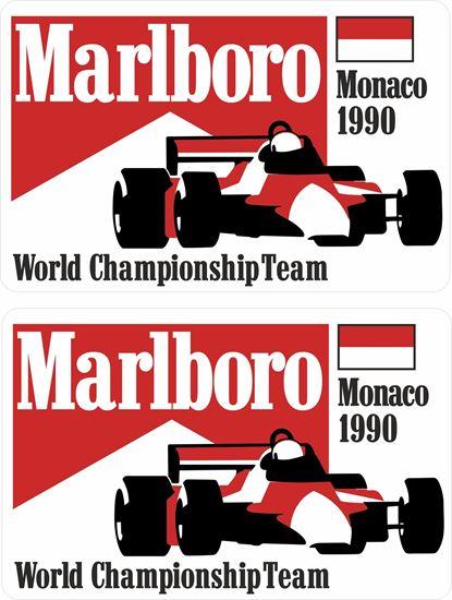 Picture of Marlboro World Championship Team Monaco 1990 Grand Prix Decals / Stickers