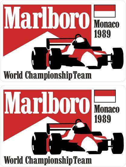 Picture of Marlboro World Championship Team Monaco 1989 Grand Prix Decals / Stickers