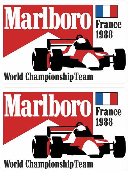 Picture of Marlboro World Championship Team 1988 France Grand Prix Decals / Stickers