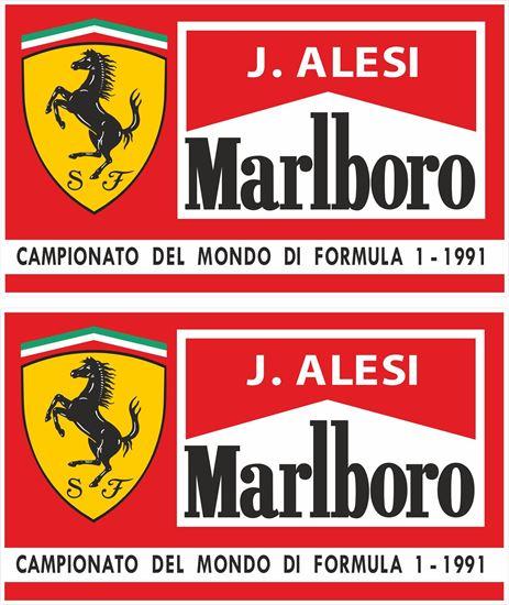 Picture of Jean Alesi Marlbroro Ferrari 1991 Formula 1 Team Decals / Stickers