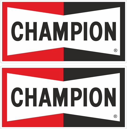 Picture of Champion Spark Plug  Decals / Stickers