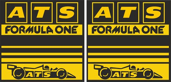 Picture of ATS Wheels 1970's Formula 1 Team Decals / Stickers